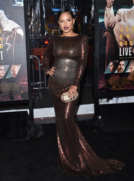 Christina Milian Metallic Clutch