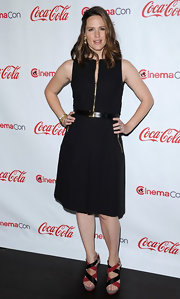 Jennifer Garner's LBD was made modern with gold zippers and a belt for the CinemaCon Awards.