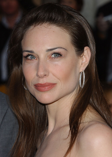 Claire Forlani Diamond Hoops