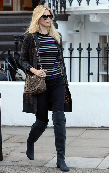 Claudia Schiffer's Over-the-Knee Boots