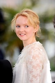 Lily Cole topped off her look with a pretty bobby-pinned updo when she attended the 'Confession of a Child of the Century' photocall.