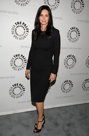 Courteney Cox wore a long-sleeve LBD to the 'Cougar Town' special screening.