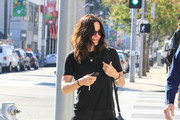 Courteney Cox Leather Messenger Bag