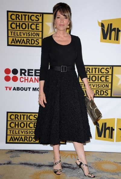 Katey Sagal channeled 1950s elegance in this gorgeous LBD at the Critics' Choice Television Awards.