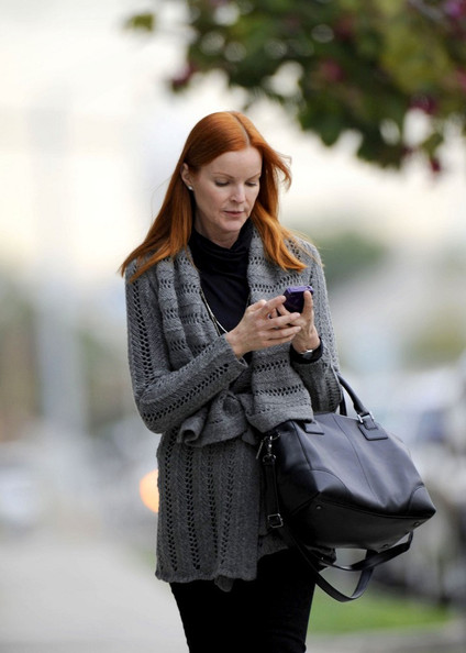 More Pics of Marcia Cross Leather Bowler Bag (1 of 6) - Marcia Cross Lookbook - StyleBistro