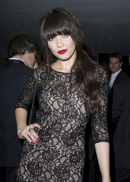 Daisy Lowe Red Nail Polish []