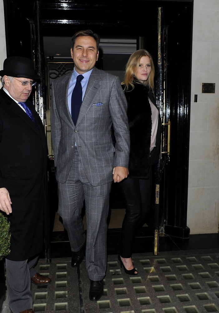 84787cefb4b1 David Walliams  suit was super-swanky and totally modern.