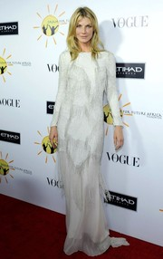 Angela Lindvall unleashed her inner diva in this elegant fringed white evening dress during the Dream for Future Africa Foundation Gala.