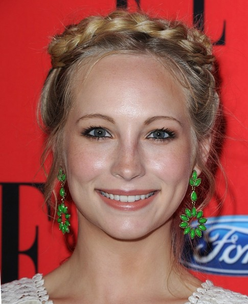 More Pics of Candice Accola Braided Updo (2 of 8) - Hair Lookbook - StyleBistro