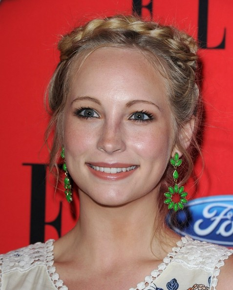 More Pics of Candice Accola Braided Updo (1 of 8) - Braided Updo Lookbook - StyleBistro