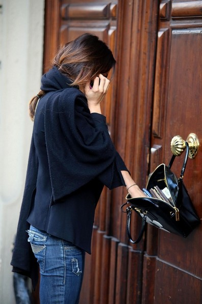 More Pics of Elisabetta Canalis Leather Tote (1 of 19) - Elisabetta Canalis Lookbook - StyleBistro