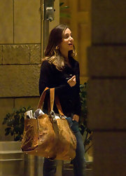 "Holy moly Eliza! What do you have in there? In this case, an ""oversized handbag"" is an understatement."