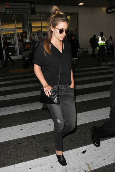 Elizabeth Olsen Leather Shoulder Bag