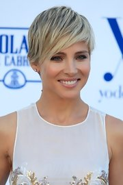 Elsa Pataky wears a textured pixie with emo bangs like nobody else can!