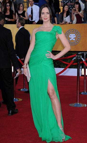 Emily Blunt One Shoulder Dress