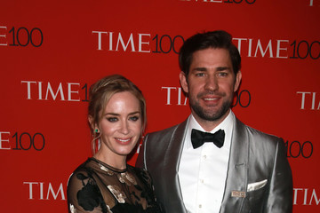 Emily Blunt John Krasinski Stars Attend The Time 100 Gala In New York City