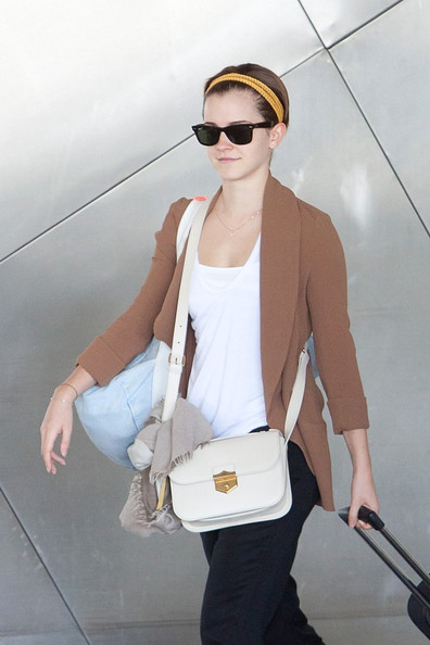 Emma Watson Leather Shoulder Bag []