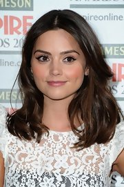 Jenna Louise Coleman chose a shoulder-length 'do with soft, textured layers.