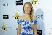 Erika Christensen Off-the-Shoulder Dress