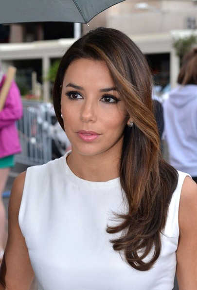 Eva Longoria Long Side Part
