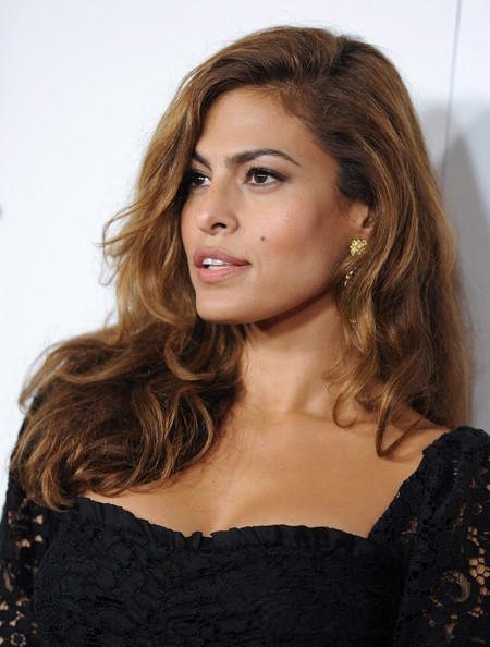Eva Mendes Long Side Part