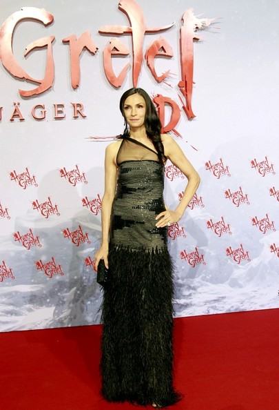 Famke Janssen One Shoulder Dress