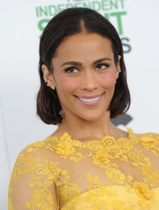 Paula Patton was a cutie at the Film Independent Spirit Awards wearing her bob with a center part.
