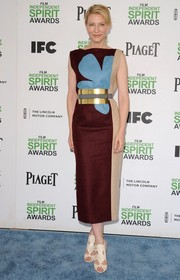 Cate Blanchett looked flawless, as always, in a color-block Roksanda Ilincic dress during the Film Independent Spirit Awards.