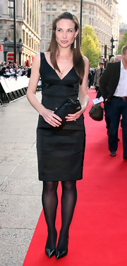 Claire Forlani exuded classic elegance in a little black dress at the premiere of 'Flashbacks of a Fool.'