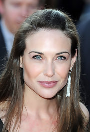 Claire Forlani looked beautiful in sterling dangle earrings at the premiere of 'Flashbacks of a Fool.'