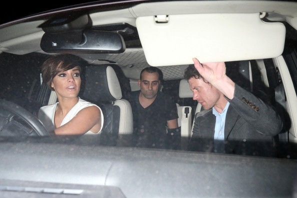 Frankie Sandford and Wayne Bridge Out Late in London