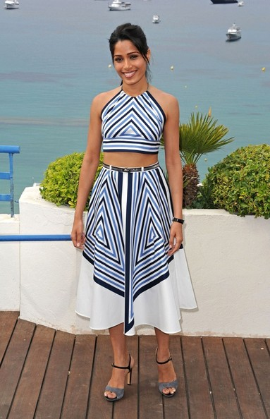 Freida Pinto Knee Length Skirt