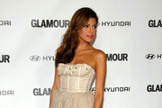Eva Mendes Wears a Lela Rose Corset Dress