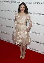 Jessica Brown-Findlay was ready for any red carpet or garden party in this light floral dress.