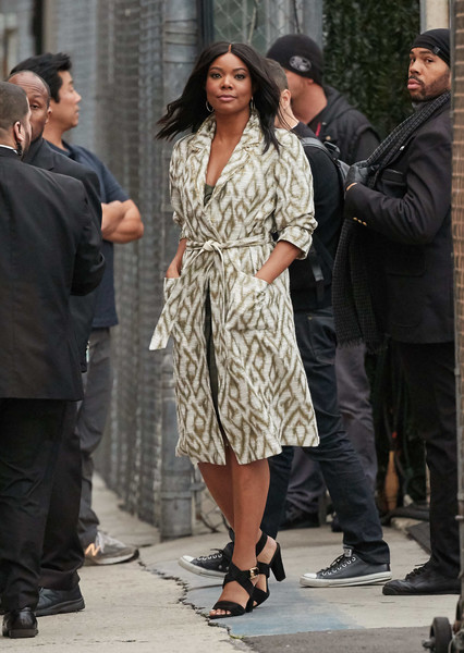 Gabrielle Union Printed Coat