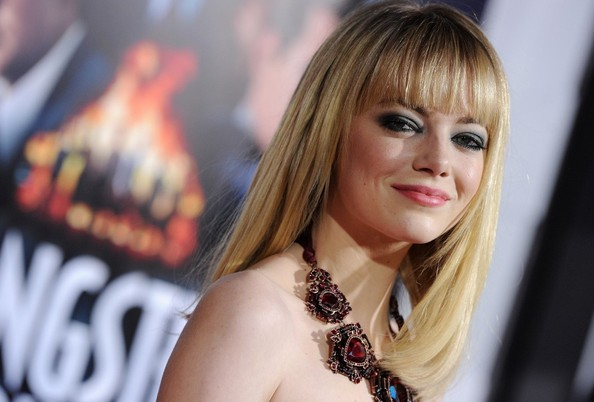 More Pics of Emma Stone Strapless Dress (4 of 29) - Emma Stone Lookbook - StyleBistro