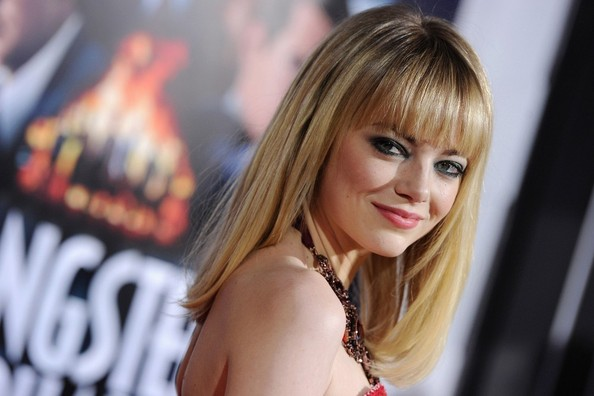 More Pics of Emma Stone Strapless Dress (3 of 29) - Emma Stone Lookbook - StyleBistro