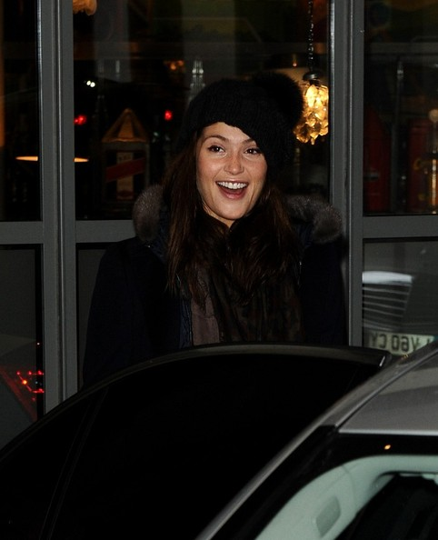 More Pics of Gemma Arterton Pompom Beanie (1 of 7) - Gemma Arterton Lookbook - StyleBistro