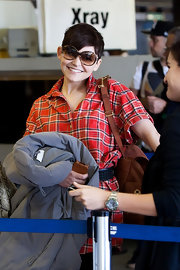 Ginnifer Goodwin looked adorable wearing oversized sunglasses while she walked through LAX.