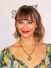 Rashida Jones looked cute with her short waves and rounded bangs at the opening of What Goes Around Comes Around.