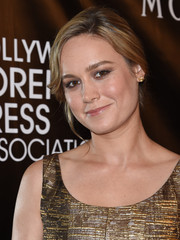 Brie Larson pulled her locks back into a loose bun for the HFPA Grants Banquet.