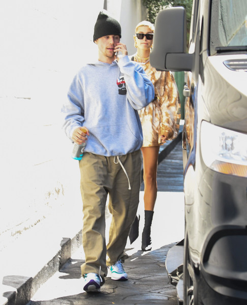 More Pics of Hailey Bieber Long Sleeve T-Shirt (1 of 5) - Tops Lookbook - StyleBistro