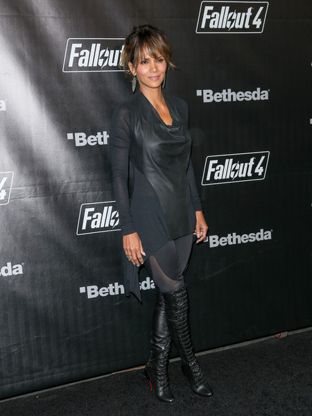 Halle Berry Cowl Neck Top
