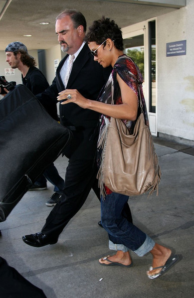 Halle Berry Tasseled Tote
