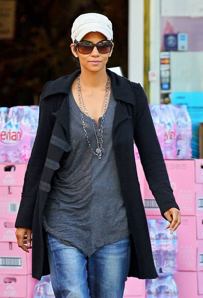 Halle Berry was out and about in West Hollywood wearing a Wicked fine link chain paired with a Wicked gelato station necklace in clear quartz.