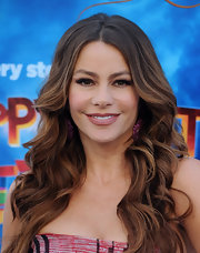 Sofia Vergara wore her hair in long sexy waves at the premiere of 'Happy Feet Two.'