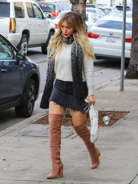 Hilary Duff Denim Skirt