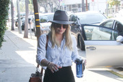 Hilary Duff Leather Shoulder Bag