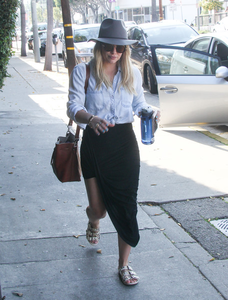 Hilary Duff Studded Sandals