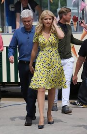 Holly wore this lovely floral print frock for a fun and flirty look while out in London.